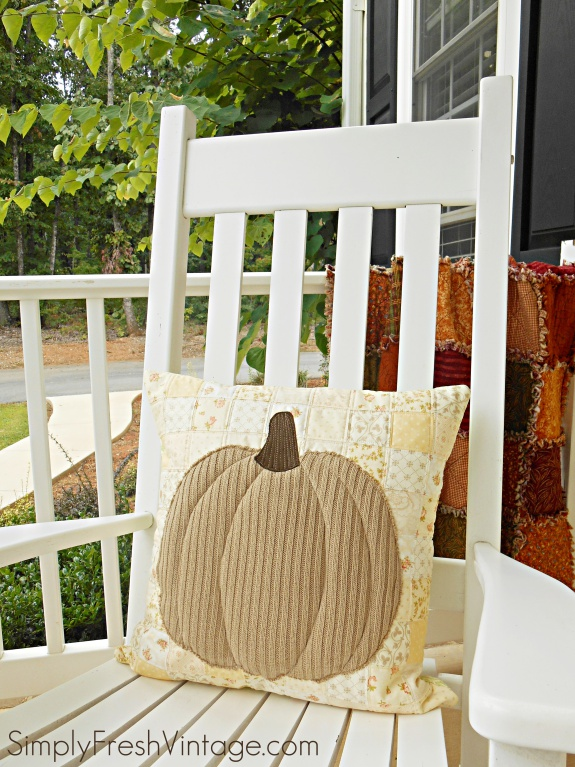 Patchwork Pumpkin Pillow