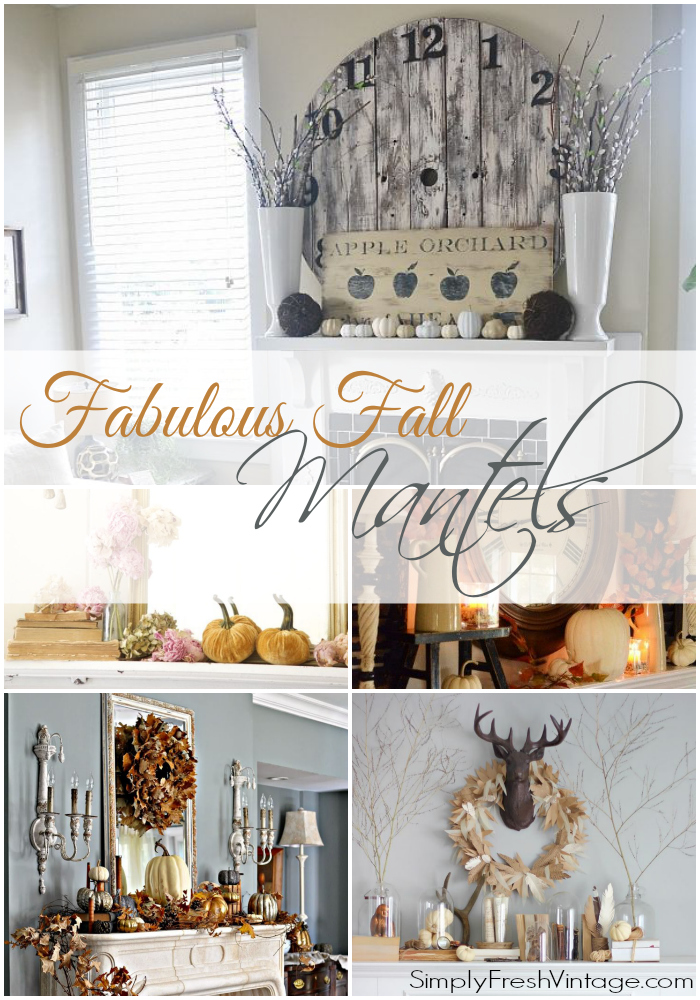 Fabulous Fall Mantels from SimplyFreshVintage.com