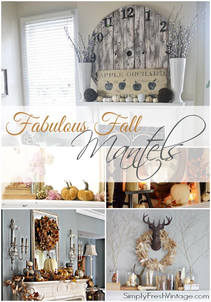 Fabulous Fall Mantels from SimplyFreshVintage.com