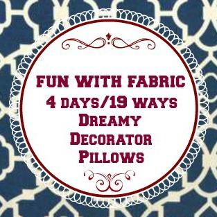 Fun With Fabric Pillow Tour