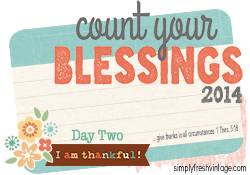 Count Your Blessings … Day Two