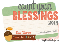 Count Your Blessings … Day Three
