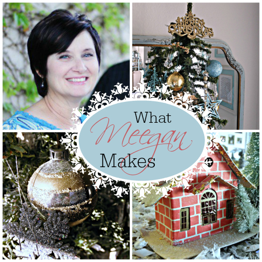 22 Bloggers swapped names for a DIY-style Secret Santa Blog Tour. Come see the amazing decorations that they made! The recipient of my gift is Meegan from What Meegan Makes. |Secret Santa Blog Tour  | SimplyFresh Vintage.com