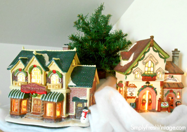 Christmas Villages are a wonderful way to celebrate your hobbies | SimplyFreshVintage.com