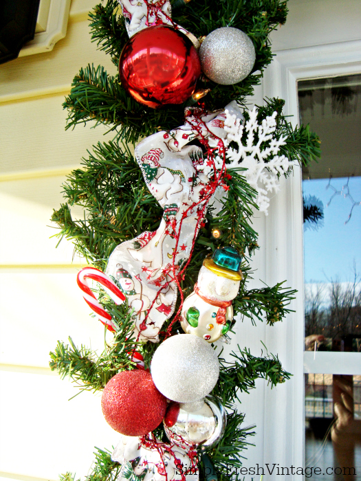 """Welcome to """"Home for the Holidays"""" ... Won't you sit with me on the porch for a bit and share your favorite holiday memories?   SimplyFreshVintage.com"""
