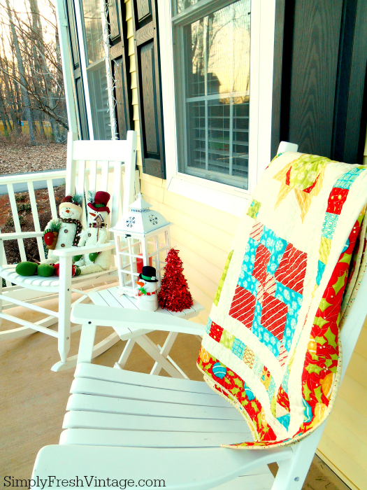 "Welcome to ""Home for the Holidays"" ... Won't you sit with me on the porch for a bit and share your favorite holiday memories? 