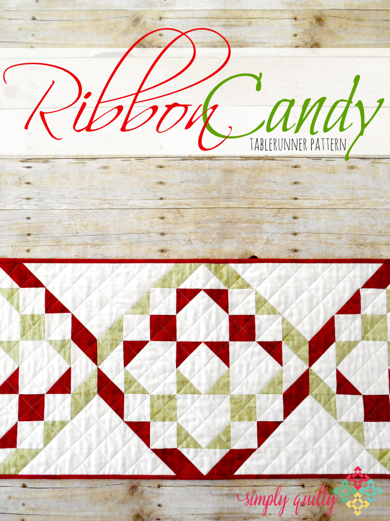 Ribbon Candy Tablerunner Pattern ... a FREE quilt pattern from SimplyFreshVintage.com