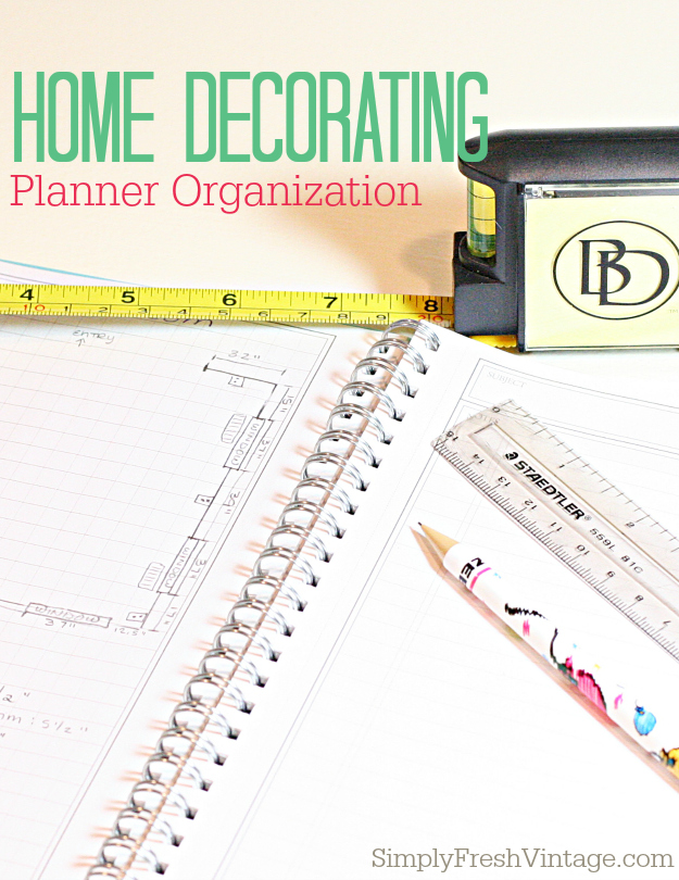 Shopping for Home Decor? Not sure if that table or painting will fit in the space you have envisioned it for? Worry no more! This Home Decorating Planner will help keep you organized. | SimplyFreshVintage.com