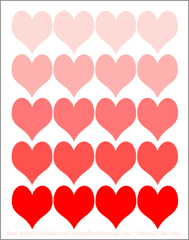 Do you brighten up your home with touches of red and pink for Valentines Day? Here are two FREE digital printables to get your Valentine decor started. | SimplyFreshVintage.com