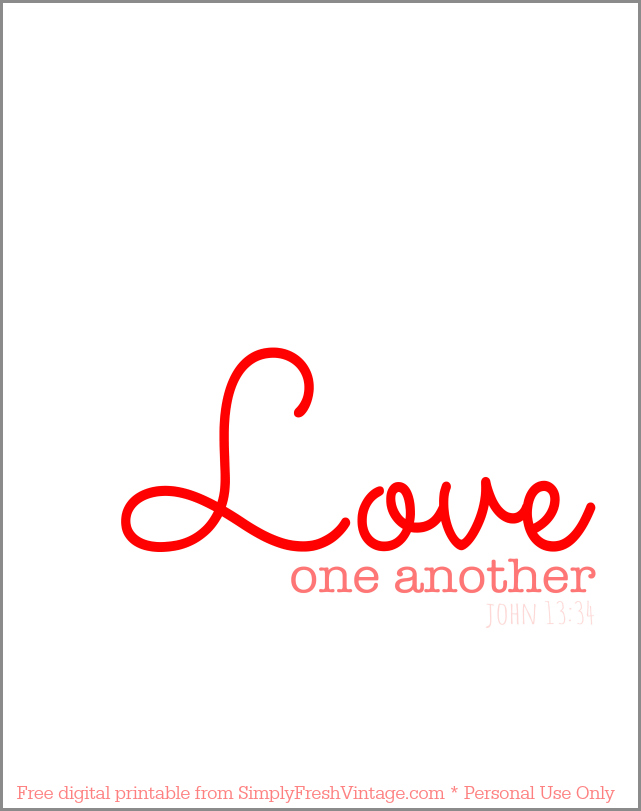 Terrible image in love one another printable