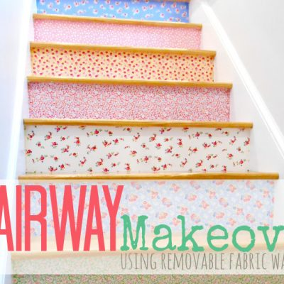 Stairway Makeover | SimplyFreshVintage.com