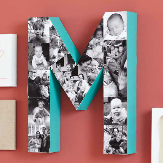 Alphabet Letter Black & White Photo Collage | Mother's Day Gift Ideas & Printables | SimplyFreshVintage.com