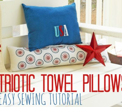 Patriotic Dish Towel Pillows