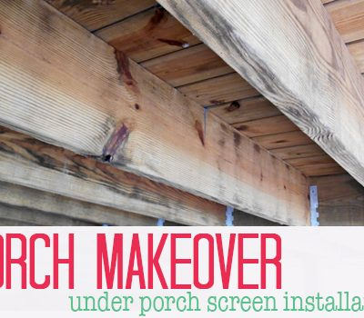 Under Porch Screen Installation | SimplyFreshVintage.com