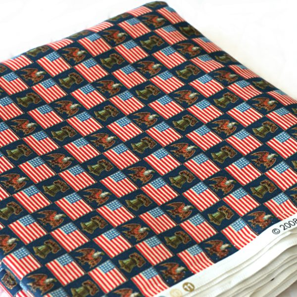 """Patriotic Liberty Bell Eagle"" by John Grossman for Quilting Treasures."